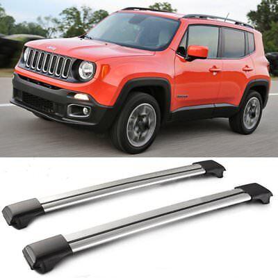 For 2014-2018 Jeep Renegade Adjustable Aluminum Car Roof Rack Cross Bar Carrier