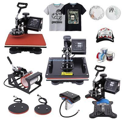 5in1 Digital Transfer Sublimation Heat Press Machine T-Shirt Mug Hat Plate 12x15 for sale  Rowland Heights