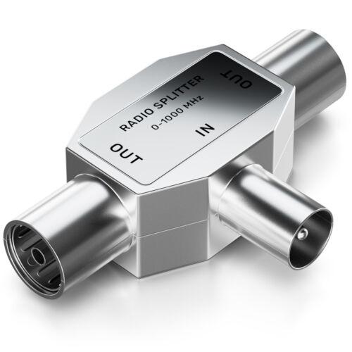 deleyCON Radio Antennen Verteiler Zweitgeräte Splitter Kabel Adapter Kupplung