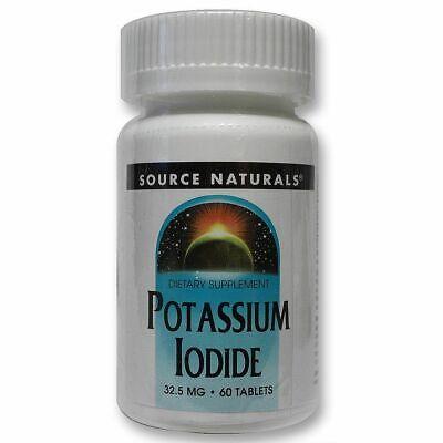 Potasio Yoduro Yodo 32.5mg 60 Tabletas Soporte Underactive Tiróide Función