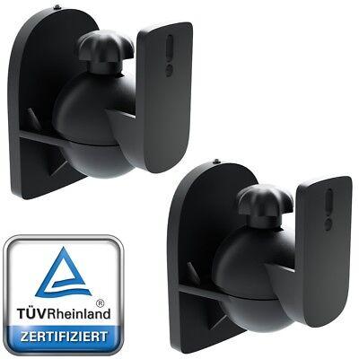 2 Lautsprecher Halterung Boxen Wandhalterung Wandhalter Deckenhalterung deleyCON