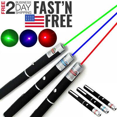 3 Packs 900mile Laser Pointer Pen Green Blue Purple Red Light Visible Beam Lazer