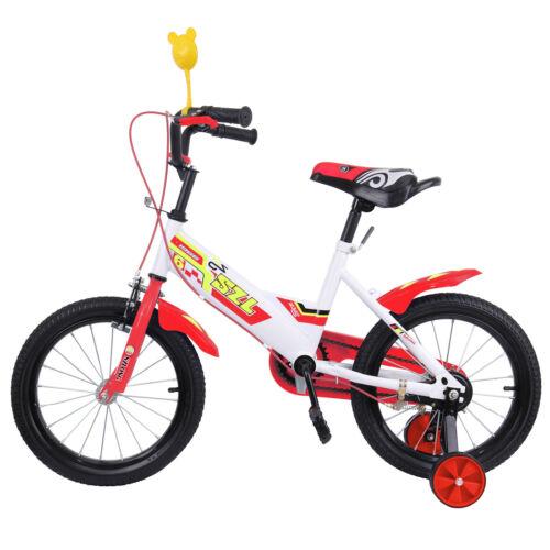 16 Zoll Kinderfahrräder Kinderfahrrad Mädchen Jungen Kinder Fahrrad Rad Bike Rot