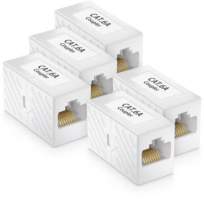 5x CAT 6a Netzwerk Kupplung Patchkabel Netzwerkkabel CAT6 RJ45 Verbinder DSL LAN