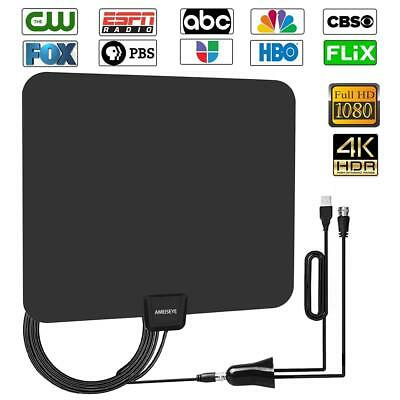 200 Mile Range TV Antenna Digital HD 4K Antena Digital Indoor HDTV 1080p US Ship