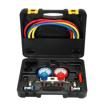 R134a Air Conditioning Refrigeration Diagnostic Manifold Gauge Tool Kit