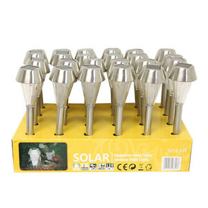 24-Outdoor-Garden-Stainless-Steel-Landscape-Lawn-Mini-Solar-Lights-Lamp