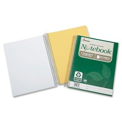 Nib - Nish 5-subject Spiral Notebookcollege Rld8-12x11200shtswe 6002015