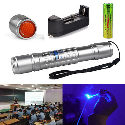 Military 5MW 405NM Ray Blue Purple Violet Laser Pointer Pen Visible Beam Light