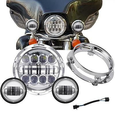 7'' LED Daymaker Projector Headlight And Passing Fog Lights For Harley Touring