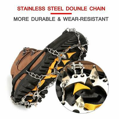 New! Wirezoll Traction Cleats - 19 Stainless Steel Spikes - Medium - Black