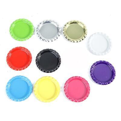 Bottle Caps, 100 PCS Mixed Colors Bottle Caps Double Both Sided Colors DIY