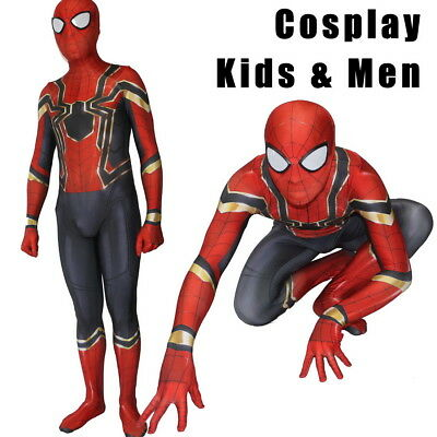 Kids Avengers Infinity War Iron Spiderman Super Hero Cosplay Costume Outfit Suit (Super Hero Kids Costume)