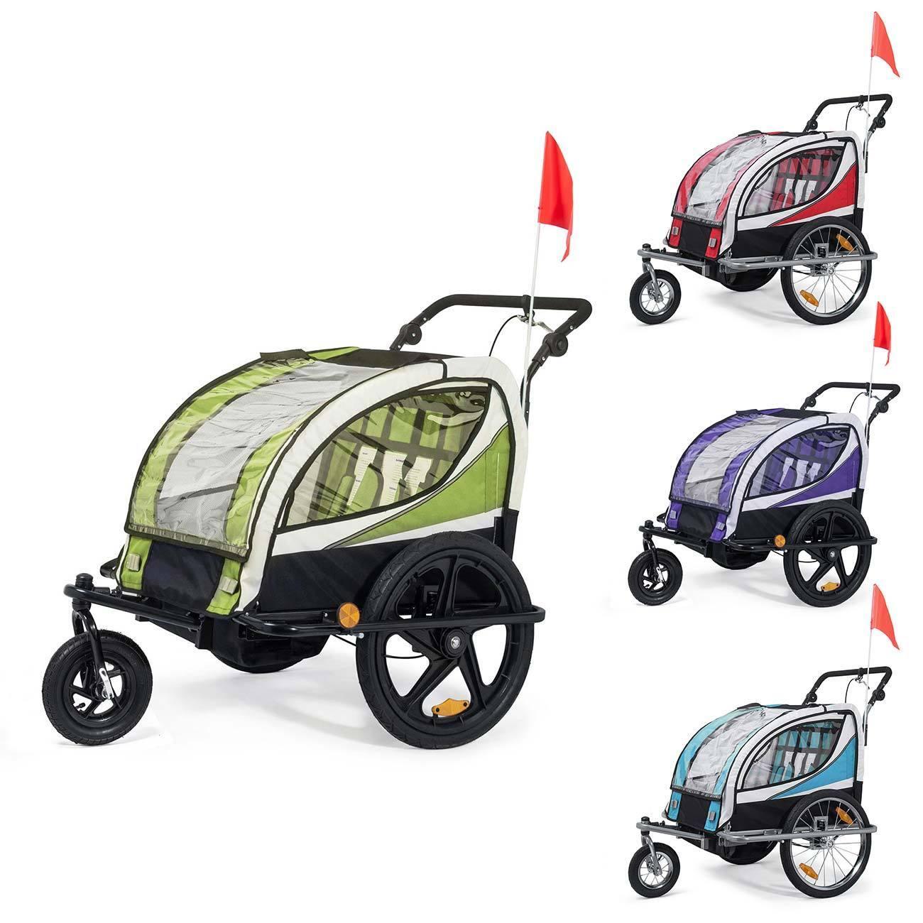 Jogger Fahrradanhänger Kinder Kinderfahrradanhänger 2in1 drehbar 360° Neu SAMAX