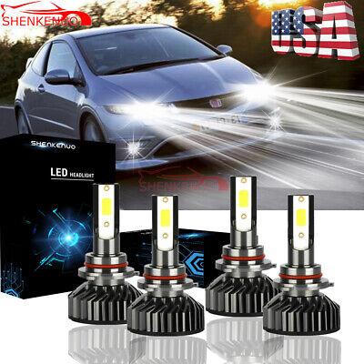 For Honda Civic 2006-2011 Sedan 4Dr Replacement LED Headlights Bulbs Kit 6500K