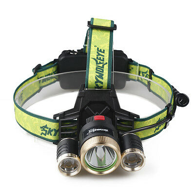 20000LM Cree 3x XM-L LED Headlight Flashlight Torch T6 Headlamp Head Light Lamp