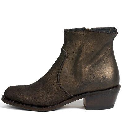 Fiorentini and Baker Rica bronze metallic Italian leather boot 38