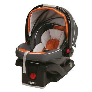 BRAND-NEW-Graco-SnugRide-Click-Connect-35-Lightest-Infant-Car-Seat-Tangerine