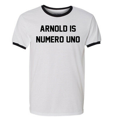 Arnold Is Numero Uno T Shirt Pumping Iron Schwarzenegger Movies DVD Blu Ray Tee Arnold Is Numero Uno T-shirt