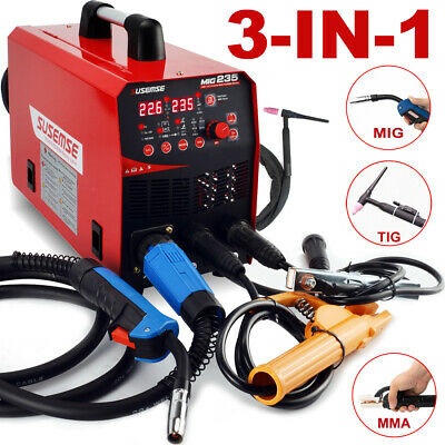 Migsticktig Welding Machine Mig Welder Flux Core Gasgasless 110v220v 200a