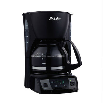Mr. Coffee Simple Brew 5-Cup Programmable Coffee Maker with Auto Pause, Black