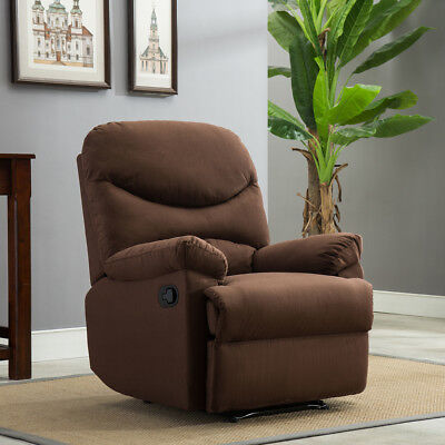 Recliner Govern Sofa Living Room Furniture Microfiber Reclining Padded Seat Brown