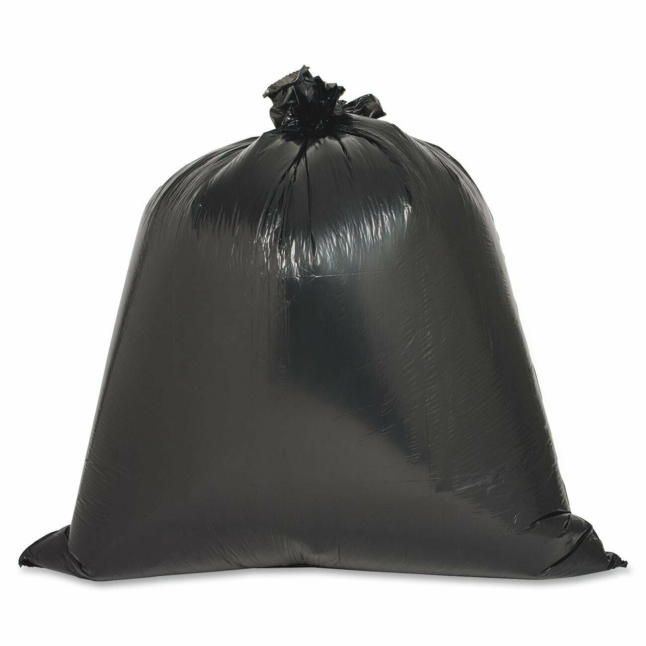 40 plastic trash bags black strong heavy