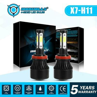 4 Sides H11 H8 H9 CREE LED Headlight Kits 1900W 285000LM Bulbs High Power 6000K