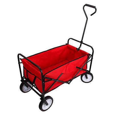 Outdoor Active Folding Wagon Collapsible Cart Garden Buggy Shopping Tool