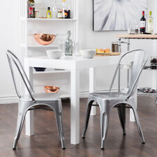Mua và bán Trattoria Dining Chair, Metal, Stackable, Set of (4),Silver gần tôi