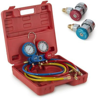 New Portable R134 R12 R22 Hvac Ac Refrigeration Kit Ac Manifold Gauge Set Tools