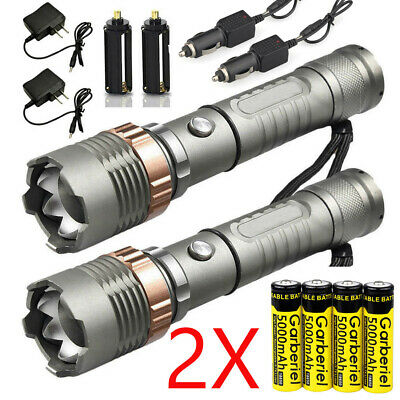 Rechargeable 990000LM Camping LED Flashlight T6 Tactical Police Torch 18650 Lamp