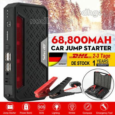 68800mAh 4 USB Starthilfe Auto KFZ Car Ladegerät Jump Starter Booster Power Bank