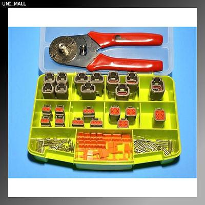 116 Pcs Deutsch Dtm Genuine Connector Starter Kit Crimper Made In Usa