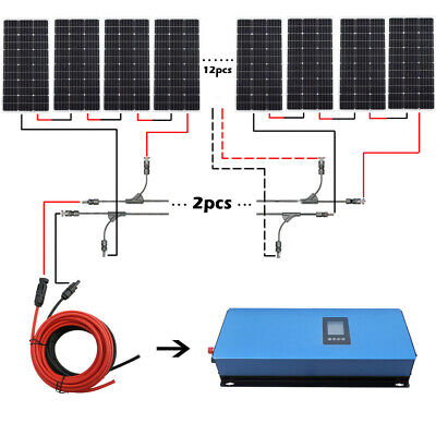 ECO Grid Tie 1000W to 2000W Solar System Roof Kit For Farm Home Power