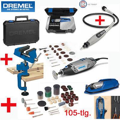 DREMEL Multitool Multifunktionswerkzeug 3000 -25 +105-tlg. + Welle +Schraubstock