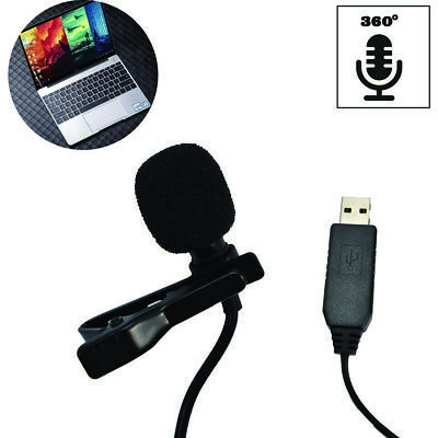 Mini Portable USB Microphone Clip Lapel Microphone For notebook and computer Mini Usb Microphones