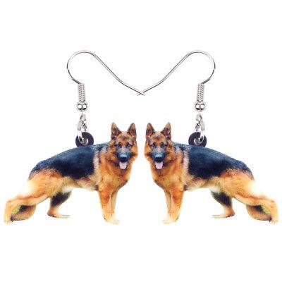 Acrylic German Shepherd Dog Earrings Dangle Hooks Animal Jewelry For Women Gifts Shepherd Hook Earrings