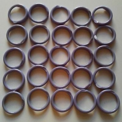 25 Large Chicken Spiral Size 11 Id Leg Bands Poultry 1116 Round Purple 17mm