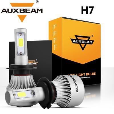 AUXBEAM H7 Car LED Headlight Bulb Conversion Kit High Low Beam Fog Lamp 6500K