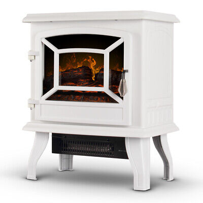 "17"" Fireplace Stove Infrared Heater Freestanding Heating Set"