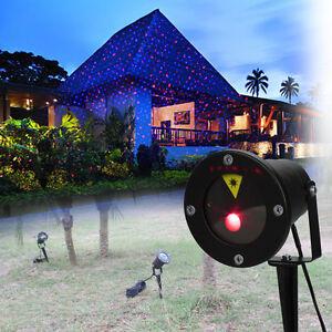 natale esterno proiettore led laser luce rosso verde giardino illuminazione  eBay