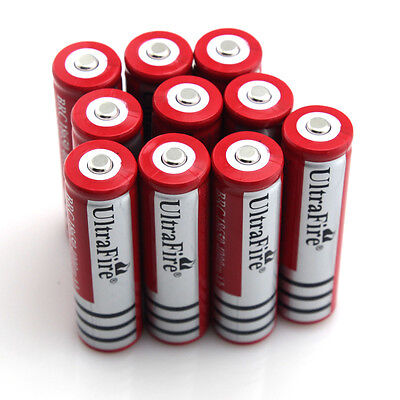 10X Ultrafire BRC 18650 4000mAh 3.7V Rechargeable Li-ion Batteries for LED Torch on Rummage