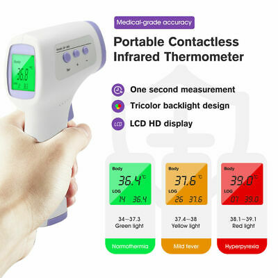 Universal Medical Infrared Non-contact Thermometer Digital Lcd Forehead Body Ir