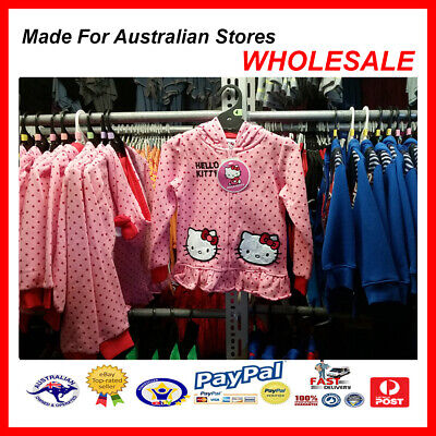 AUS WHOLESALE KIDS GIRLS CLOTHING Hello Kitty Hooded Jacket MYER STOCK From (Myer Kids Clothing)