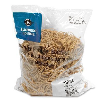 Business Source Rubber Bands Size 16 1 Lb.bg 2-12x116 Natural Crepe 15733