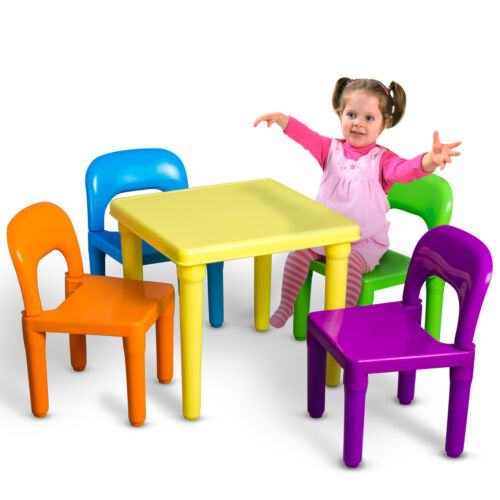 Купить OxGord - Kids Table and Chairs Play Set Toddler Child Toy Activity Furniture In-Outdoor
