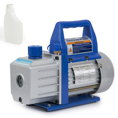 4CFM Rotary Vane Deep Vacuum Pump 1/3HP AC Air Tool R410a R134 HVAC Refrigerant