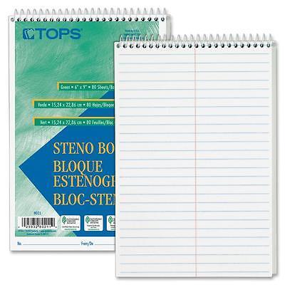 Tops Steno Book Gregg Rule 80 Sheetspd 6x9 12pk White 8020