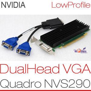 256-MB-Nvidia-Quadro-NVS-290-Pcie-Dual-Head-2x-VGA-Graphics-Card-Windows-XP-7-8